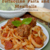 Rich and Hearty Fettuccine Pasta and Meatballs Slow Cooker Recipe ~ Crockpot Pasta