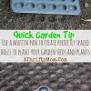 Garden Tips ~ Use Muffin Tin to Create Perfectly Spaced Holes for Planting #Garden