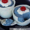 BLUEBERRY MOUSSE CUPS ~ Red White and Blue Dessert #Recipe #July4th