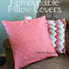 DIY Removable Pillow Covers, You won't believe how easy these are to make!