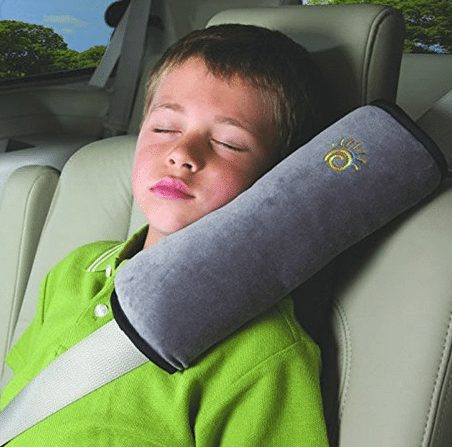 Baby Soft Children's Headrest Neck Support Pillow Shoulder Pad for Car Safety Seatbelt - A Thrifty Mom