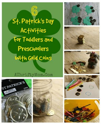 St Patricks Day projects for preschool or toddlers, Easy DIY Shamrock Craft for kids, St. Patty's day craft idea, DIY, Kids, School party Idea