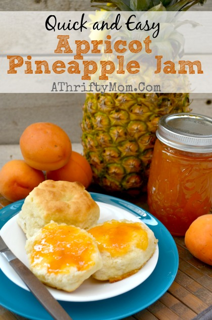 APRICOT PINEAPPLE JAM RECIPE, quick and easy recipe that is a family favorite #Jam #recipe #Apricot