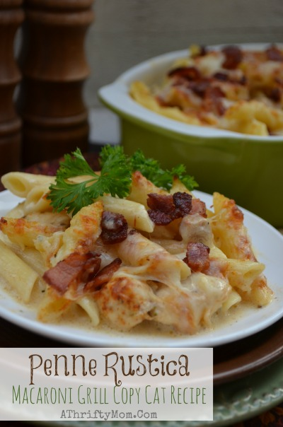 Penne Rustica Macaroni Grill Copy Cat recipe, feed a large group and is amazing #Pasta recipe, #Soul Food