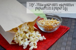 DIY - make your own popcorn in paper bag with a microwave, how to make microwave popcorn in a brown paper bag