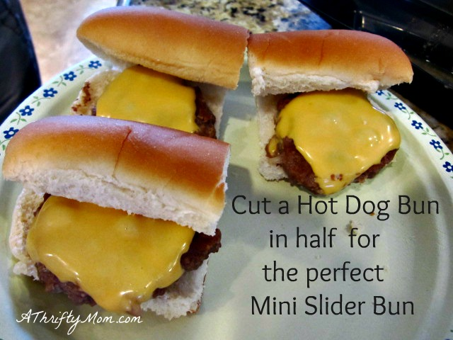 mini sliders bun, money saving tip