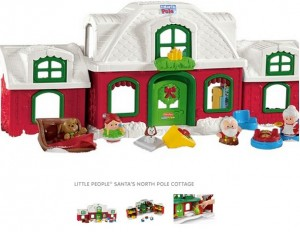 little people santa's north pole cottage