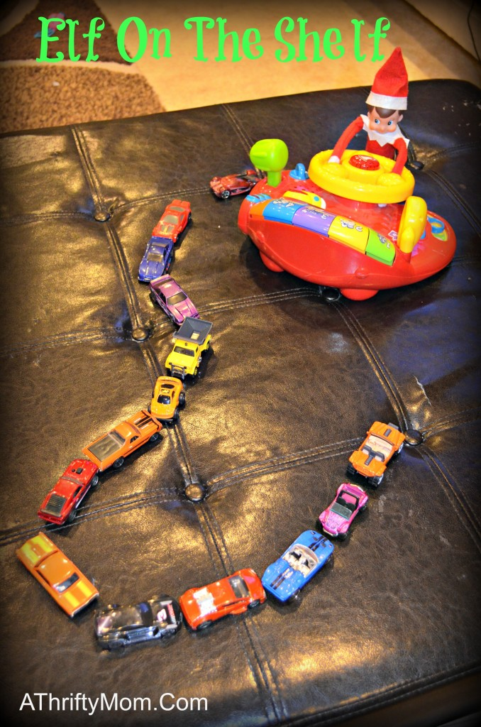 Elf On The Shelf ideas, cars