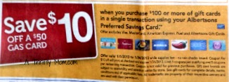 Save $10 off a $50 gas card wyb $100 in GC