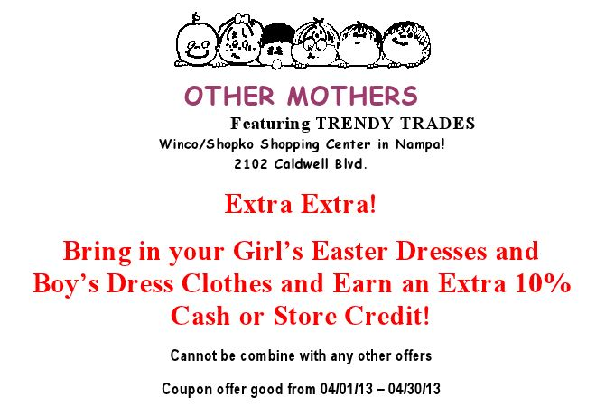 other mothers april coupon