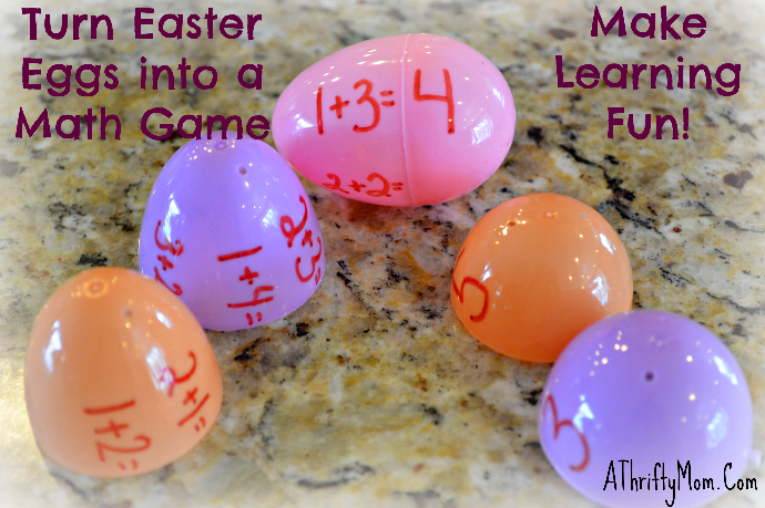 easter egg learning math game