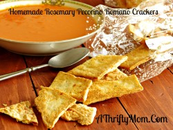 Homemade Rosemary Pecorino Romano Crackers, Homemade Cracker Recipe, Kid Friendly Recipes, Money Saving Recipes