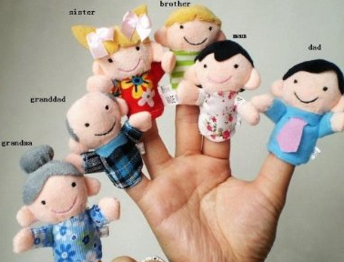 My Family finger puppet set