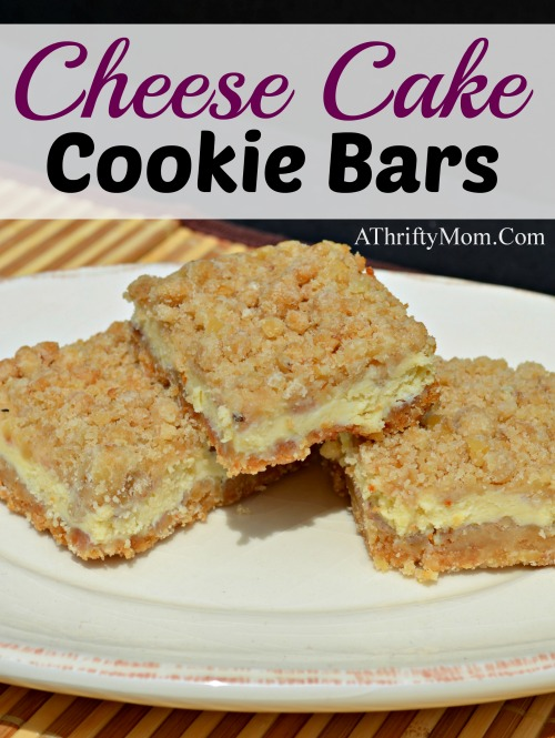 cheese cake cookie bars recipe
