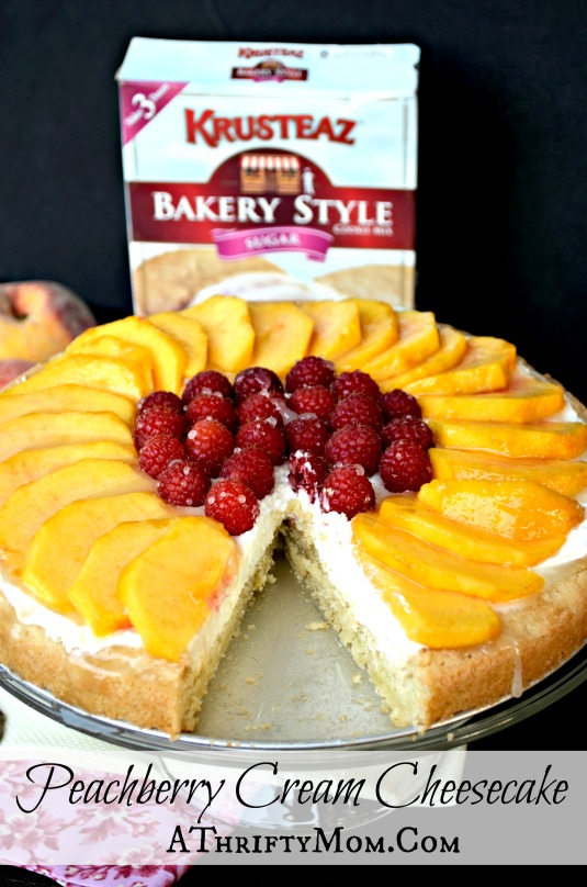 Peachberry Cream Cheesecake, quick and easy recipe that might just be the best thing you have ever tasted!