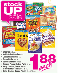 Stock up on GM cereals