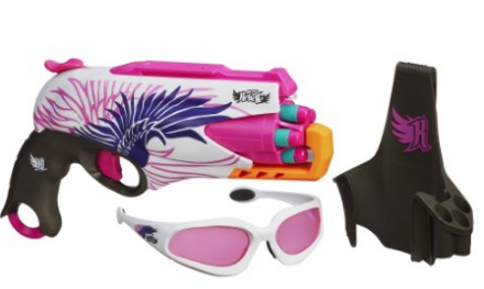 1 nerf pink rebelle with holster and glasses