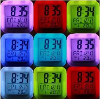 LED Glowing Alarm Clock1