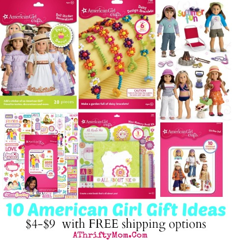 american girl gift ideas under 10 dollars with free shipping options