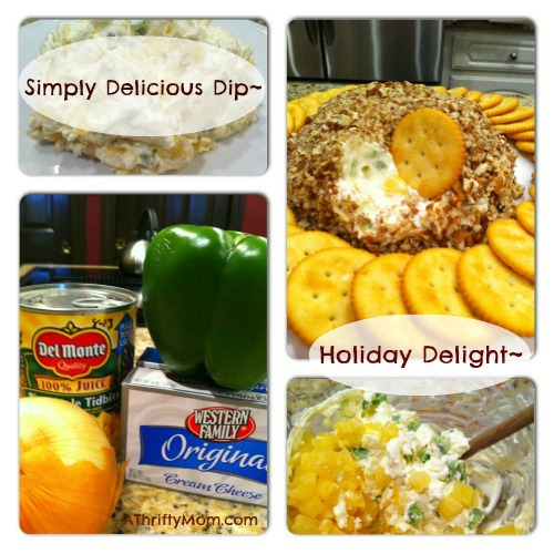 pinterest #cheeseball #partydip #holidaydelight #athriftymom