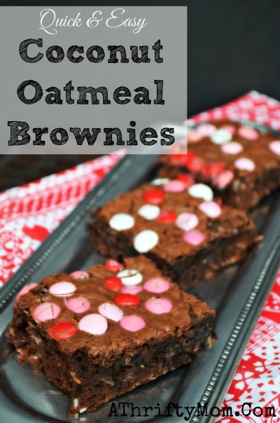 Coconut Oatmeal Brownies, Quick and easy way to jazz up a plain brownie mix, jpg