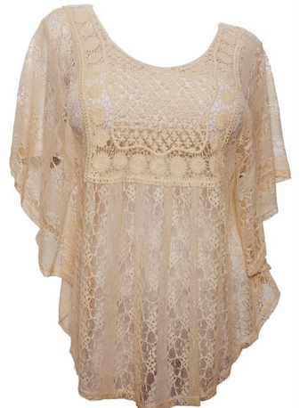 plus size lace poncho top, comes in 1x-3x and lot sof colors to pick from