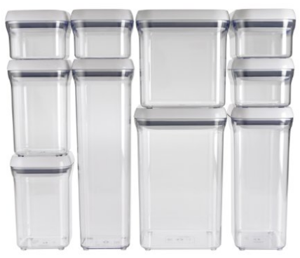 storage solutions, get organized with these OXO good grips containers
