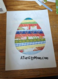 Easter egg craft ~ great kids activity,#Easter,  #craft, #thrifty,#kids, #easteregg,  #egg,#paper, #recycle