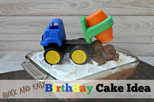 Truck Birthday Theme Party Quick and Easy Birthday Cake Idea