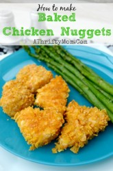 How to make BAKED CHICKEN NUGGETS a health dinner your kids will eat right up, #Chicken, #Healthy, #Baked, #recipe