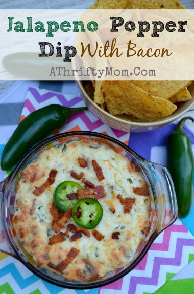 Jalapeno Popper Dip with Bacon, a quick and easy dip that is warm and cheesy and will have your party guest asking for MORE, #PoppersDip, #JalapenoDip, #Party, #Recipe
