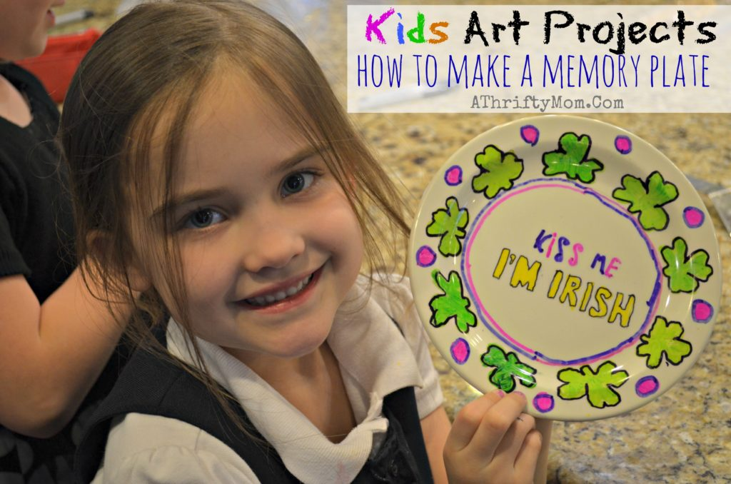 Memory plate, how to make your own personalized plate that WON'T wash off. #KidsCrafts #ArtProjects #giftIdea  #Sharpie