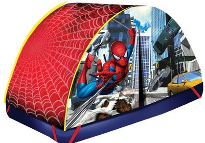 spiderman bed tent on SALE perfect for indoor c&ing for kids  sc 1 st  A Thrifty Mom & BED tents fun for all kids ~ #Kids - A Thrifty Mom - Recipes ...