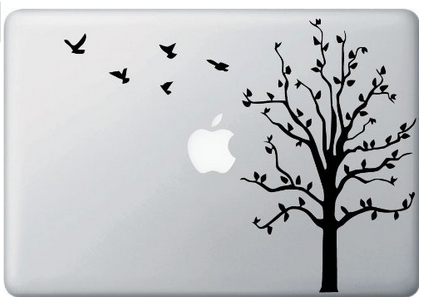 tree decal for your macbook, laptop or apple