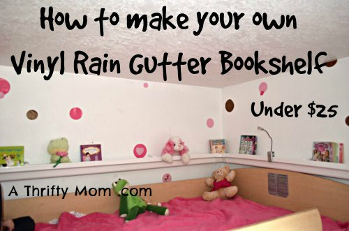 Make Vinyl Rain Gutter Book shelf cheap
