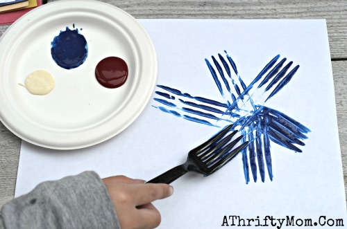 Fireworks Made With A Fork And Craft Paint Quick Easy Ideas For Kids
