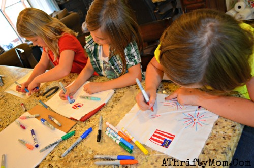 Tie-Die Shirts with sharpie markers, make Fire Work shirts for the 4th of July all you need is a sharpie, and a spraybottle #TieDie, #DIY, #Crafts, #Kids