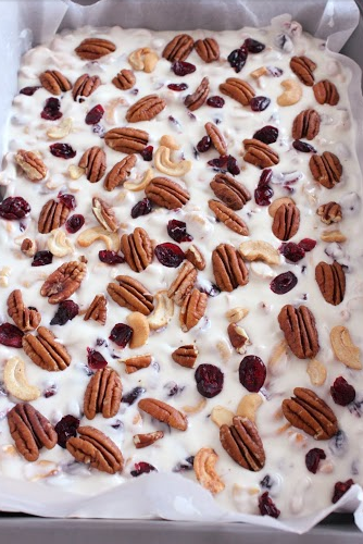 Cashew Cranberry Pecan Bark Recipe