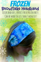 Frozen Head Band, tie dye sharpie snowflakes so quick and easy PERFECT for a Frozen Party #DIY #Frozen #Party #Snowflakes