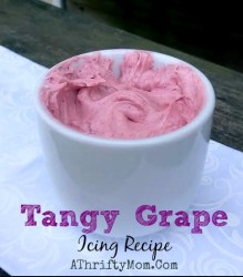 Tangy Grape Icing Recipe, Quick and Easy #Frosting, #FruitDip, #Icing