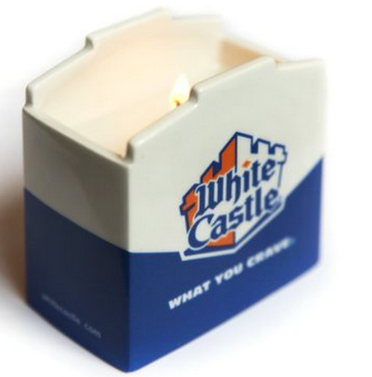 white castle burger candle