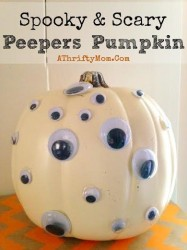 Peeper Pumpkins, Easy ways to decorate a pumpkin, Pumpkin Decorating Ideas, #Pumpkins, #fall, #Hacks