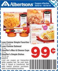 Albertsons stouffers sale
