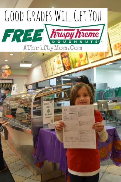 Free Krispy Kreme Doughnuts for A's on your childs report card, how to get Free Krispy Kreme Donuts, Good Grades get your free Doughnuts, Hacks