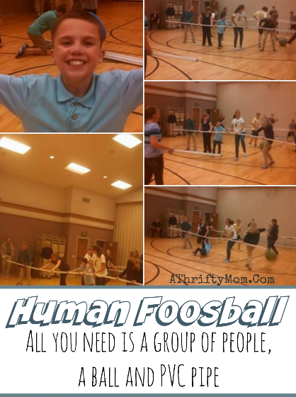 Human Foosball with PVC Pipe, quick and easy game for family reunions, youth groups or family reunions #GroupGames