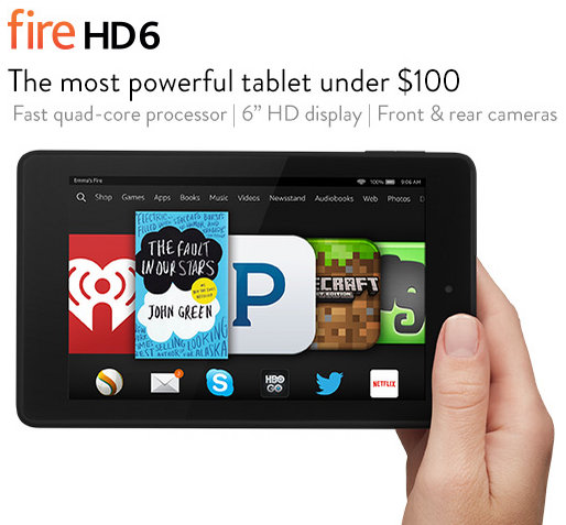 Kindle Fire HD 6 The Most Powerful Tablet Under $100 - Take it with you anywhere #GiftIdea