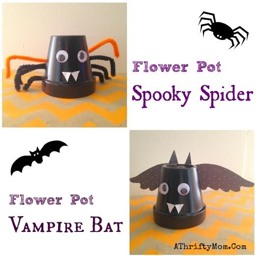 kids craft for halloween, Bat Flower Pot, Low Cost Craft For Kids, #Halloween, #KidsCrafts, #FlowerPot