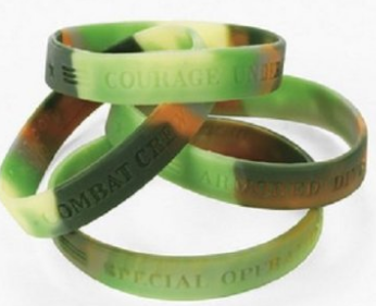 Camo Army Bracelets, makes a great party favor or stocking stuffer, Hunting and Fishing gift ideas