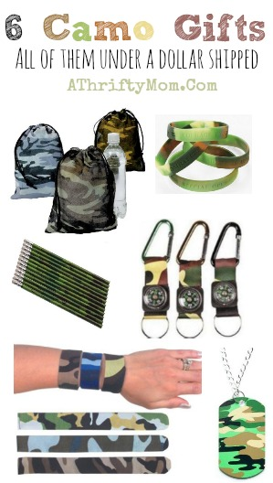 Camo gifts under a dollar, makes a great party favor or stocking stuffer, Hunting and Fishing gift ideas