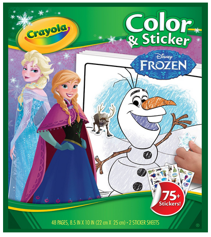 Crayola Frozen Color & Sticker Books #Frozen #GiftForKids #FrozenColoring